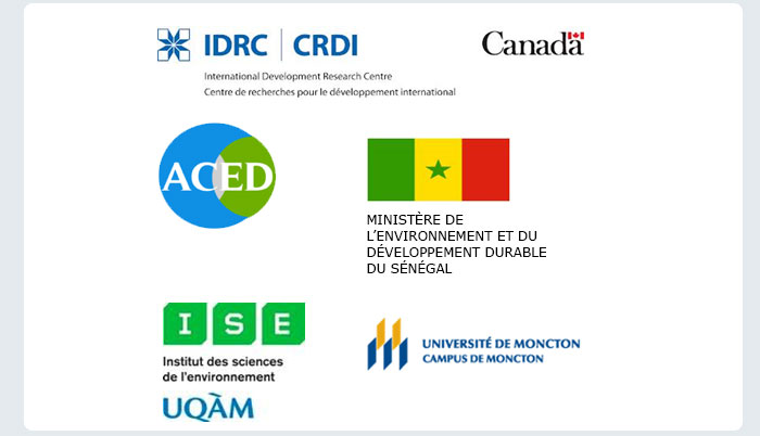 IDRD|CRDI Logos, ACED, Environment and Sustainable Development Ministries of Science, UQAM Institute of Environmental Science and Universities Of Moncton, Moncton Campus